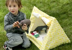 Children's 'mini tent' for toys, designed by Deuz, as featured on Bobby Rabbit
