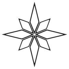 Geometric Stencil, Geometric Drawing, Geometric Star, Star Template, Shape Templates, Stencil Templates, Star Outline, Star Stencil, Letter Stencils