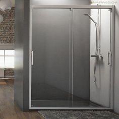 Una cabina de ducha muy simple pero de gran tama o que for Duchas planas