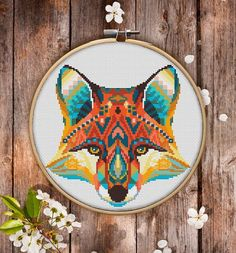 This is modern cross-stitch pattern of Mandala Fox for instant download. You will get 7-pages PDF file, which includes: - main picture for your reference; - colorful scheme for cross-stitch; - list of DMC thread colors (instruction and key section); - list of calculated thread