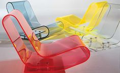 Design Maarten van Severen  Transparent or batch-dyed PMMA  Made in Italy by Kartell