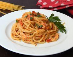 Spaghetti+alla+crema+di+peperoni+