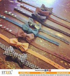 We are sure that you would love these eclectic mix of polka dots and patterned bow ties ! Didn't You? Hit LIKE if you would wear them all :) #Menswear #Clothing #Store #PolkaDots #PatternedTies #BowTies #Eclectic #Gentleman #Partywear #Accessories #Apparel #SteelAllMale #Ahmedabad #NewShowroom #Satellite