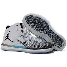 Air Jordan XXX1 Mens Basketball shoes Black white and moon