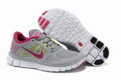 Nike Free Run 3 Womens Running Shoes Gray Fuchsia,www.freerundistance.com
