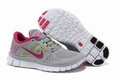 Nike Free Run 3 Womens Running Shoes Gray Fuchsia,www.freerundistance.com