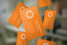 free-flying-business-card-mockup