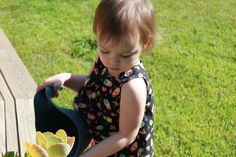 Snappy Toddler Top & Free Downloadable Pattern | Pretty Prudent - 18 mo or 2T, could be a dress for smaller baby