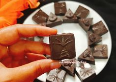 Vasusvegkitchen: Homemade chocolates - Diya and cracker shape homemade chocolates with yummy stuffing