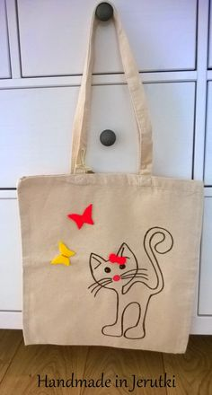 Handmade in Jerutki: Torba z Kotem dla Tosi /shopping bag