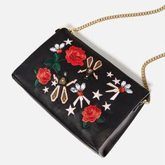 Image 4 of EMBROIDERED CLUTCH from Zara
