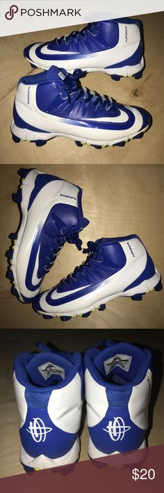 Boy's Nike Baseball Cleats Size 4 Nike Youth Huarache 2K Filth Keystone Mid  Size- 4