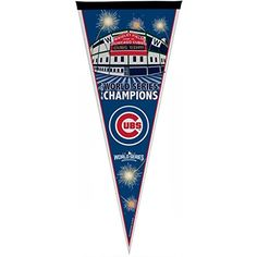 Chicago Cubs 2016 World Series Celebration Pennant Sacramento, Baseball Flag, Las Vegas, Cubs Win, Wrigley Field, Mlb Teams, World Series, Chicago Cubs, Logo Design