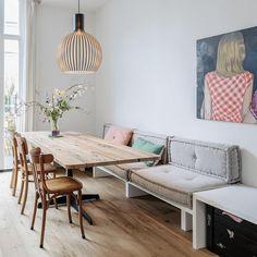 Holzmarke Still Tisch & massief hout op maat Dining Nook, Dining Room Design, Küchen Design, House Design, Interior Design, Home And Living, Living Room, Muebles Living, Home Decor Kitchen