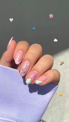 Cute Gel Nails, Soft Nails, Funky Nails, Simple Nails, Cute Easy Nails, Simple Nail Design, Nail Design Stiletto, Nail Design Glitter, Stylish Nails