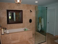 Bathroom Remodeling Birmingham Al walk in shower - this is what we should do but make it glass brick