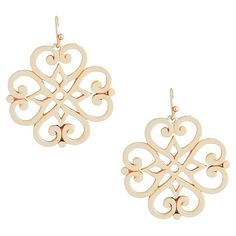 $20 @ Joss Pair of gold-plated earrings.  Product: 1 Pair of earringsConstruction Material: Alloy metal and rhodium-plating...
