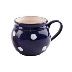 Orion Keramický hrnček Krajáč 750 ml, modrá/veľká bodka Ale, Mugs, Tableware, Dinnerware, Ale Beer, Tumbler, Dishes, Mug, Ales