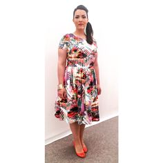 Cheltenham, April 30, 2015. Dress: custom made with fabric by Knipidee. Shoes: Jimmy Choo