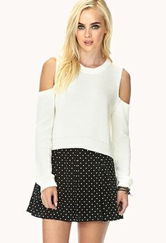 Bold Cutout Cropped Sweater | FOREVER21 - 2000050222