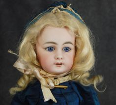 """S&H 939 German bisque doll chunky 8 ball body 14"""""""