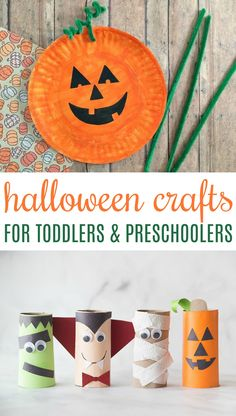 These Halloween Crafts for Toddlers and Preschoolers will help get even the little ones in your family involved in the festivities. Plus its so much fun to look back on these fun craft projects in the years to come. Toddler Preschool, Toddler Crafts, Preschool Crafts, Fun Crafts, Paper Crafts, Preschool Ideas, Halloween Crafts To Sell, Dollar Store Halloween, Holiday Crafts