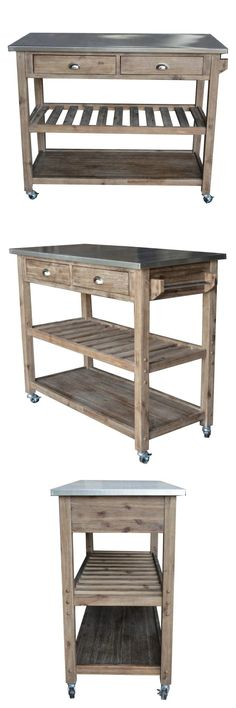 Kitchen Islands Kitchen Carts 115753: Stainless Steel Serving Cart Kitchen  Food Catering Rolling Utility Dolly Outdoor  U003e BUY IT NOW ONLY: $176.95 U2026