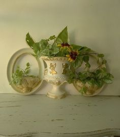 Vintage French Country Shabby Wall Decor. by 3vintagehearts,