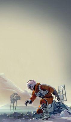 Ralph McQuarrie's ESB artwork as a phone wallpaper Star Wars Clone Wars, Star Trek, Star Wars Wallpaper Iphone, Mobile Wallpaper, Phone Wallpapers, Wallpaper Space, Star Wars Concept Art, Star Wars Fan Art, Star Wars Pictures