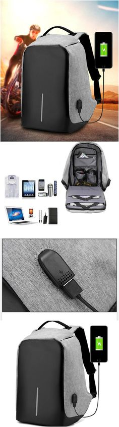 98ceacd94d8db New Design USB Charging Men s Backpacks Male Casual Travel women Teenagers  Student School Bags Simple Notebook