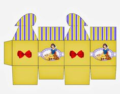 Snow White: Free Printable Box with Heart Closure. Printable Box, Free Printables, Diy Gift Box, Diy Box, Boarding Pass Template, Oh My Fiesta, Snow White Birthday, Snow White Disney, Printable Pictures