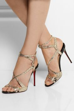 Christian Louboutin | Audrey 100 metallic coated suede sandals | net-a-p...