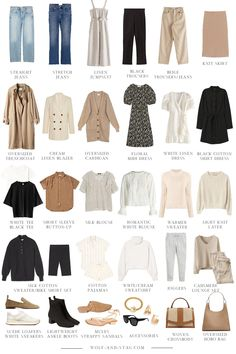 The (Mostly) Spring Capsule Wardrobe: a collage of the best sustainable, classic, wear-forever Spring pieces to wear this year and beyond clothes The (Mostly) Sustainable Spring Capsule Wardrobe Capsule Outfits, Fashion Capsule, French Capsule Wardrobe, French Wardrobe Basics, Capsule Wardrobe Casual, Work Wardrobe Essentials, Parisian Wardrobe, Minimalist Wardrobe Essentials, Staple Wardrobe Pieces