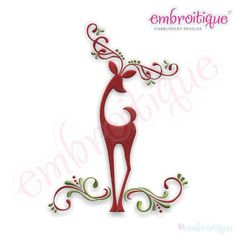 Paper Embroidery Design Embroidery Designs (All) - Reindeer Elegant Classy Swirls Embroidery Design on sale now at Embroitique! Crewel Embroidery Kits, Paper Embroidery, Learn Embroidery, Machine Embroidery Designs, Embroidery Patterns, Beginner Embroidery, Embroidery Needles, Embroidery Fonts, Monogram Alphabet