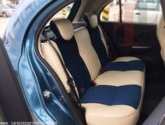 The wait is over.Fox Leather's Heat Reduction Concept in Customised Car Seat Cover.Fine Fabric at Centre & Bottom Surrounded by PU Material for Nissan Micra Successfully Installed by our Team FF Car Accessories, Chennai.