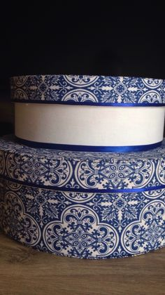 "Caixas redondas de mdf Estampa "" azulejos portugueses """