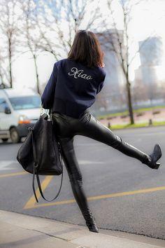 Xia Wen Ju giving us some personalized Rag & Bone action. #PFW