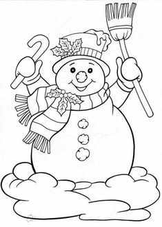 Winter Holiday Coloring Pages Printable - Winter Holiday Coloring Pages Printable, Coloring Pages Frosty the Snowman Coloring Pages Winnie Christmas Colors, Christmas Snowman, Christmas Crafts, Christmas Ornaments, Family Christmas, Merry Christmas, Snowman Coloring Pages, Coloring Book Pages, Toddler Coloring Book