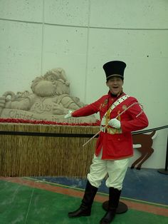 Maj. Fun ( life size wind up toy soldier) at T.B. Ray's Christmas in July, Tropicana Field