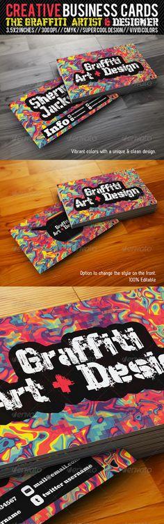 Creative Business Card#3-Grafitti Art & Designer