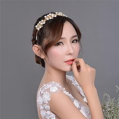 Bridal Hair Comb Tiaras Para Cabelo Simple Golden Crystals Shining Bride Headpieces Beach Wedding Bohemia Style