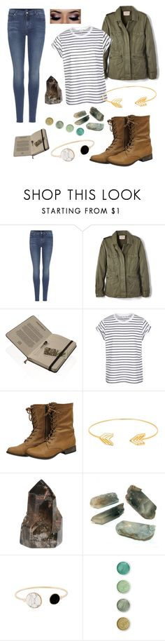 """One with nature"" by switchkid ❤ liked on Polyvore featuring 7 For All Mankind, Velvet by Graham & Spencer, Haeckels, Lord & Taylor and Terre Mère"
