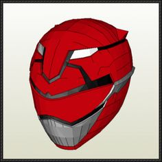 Tokumei Sentai Go-Busters - Red Buster Helmet Free Papercraft Download - http://www.papercraftsquare.com/tokumei-sentai-go-busters-red-buster-helmet-free-papercraft-download.html