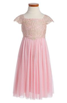 Free shipping and returns on Dorissa 'Belinda' Fit & Flare Dress (Toddler Girls, Little Girls & Big Girls) at Nordstrom.com. A shimmery lace bodice defines a beautiful fit-and-flare dress made for your little princess. Fluttery cap sleeves and golden sparkles dancing across the flouncy tulle skirt add an extra magical feel.