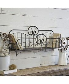 Store and display your items with our Vintage Iron Bed Wall Shelf! Inspired by a vintage bed, this hangable shelf will look great on your walls or on a table. Frame Shelf, Frame Display, Display Shelves, Vintage Bed Frame, Old Bed Frames, Bed Shelves, Metal Shelves, Vintage Headboards, Old Beds