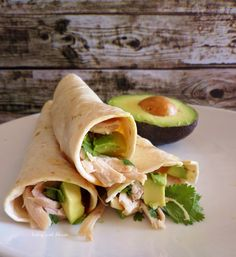 Baked Chicken and Avocado Taquitos - PRETTY GOOD. i DIDN'T USE CHEESE AND USED CORN TORTILLAS, i WOULD MAKE THEM AGAIN