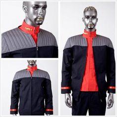 Star Trek Cosplay Nemesis Voyager Captain Sisko Jumpsuit Costumes