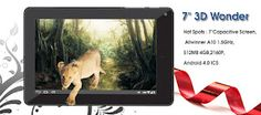 Devante 3D Wonder Tablet PC In India- Devante comes preloaded  apps that with Facebook Twitter, Skype, Google Search, Gmail that delivers powerful performance and best 3G connectivity and entertainment in a single touch. you can buy with flat price of ICS running tablets.