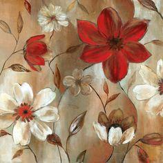 cuadros flores cuadros decorativos adornos flores rojas pecera jaja oleos entrada tarjetas