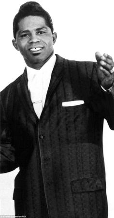 Very young mover and shaker: James Brown was pictured in the beginning of his career.